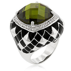 Olive Jester Cocktail Ring