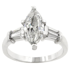 Silver Marquise Centerpiece Ring