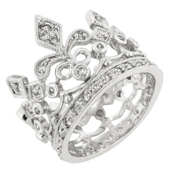 CZ Crown Eternity Ring