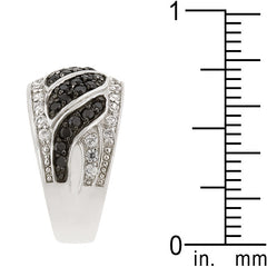 Black & White Swirl Ring