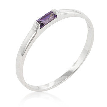 Amethyst Petite Solitaire Ring