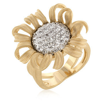 Contemporary Sunflower Ring