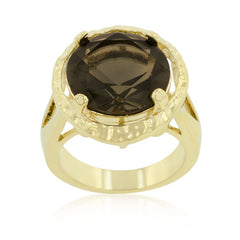 Brown CZ Organic Ring