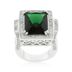 Emerald Classic Cocktail Ring