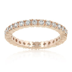 Rose Gold Cubic Zirconia Eternity Band