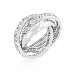 Eternity Band Triplet with Clear Cubic Zirconia