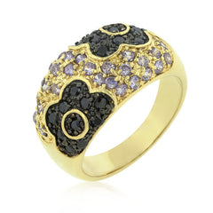 Purple and Black Rose Ring