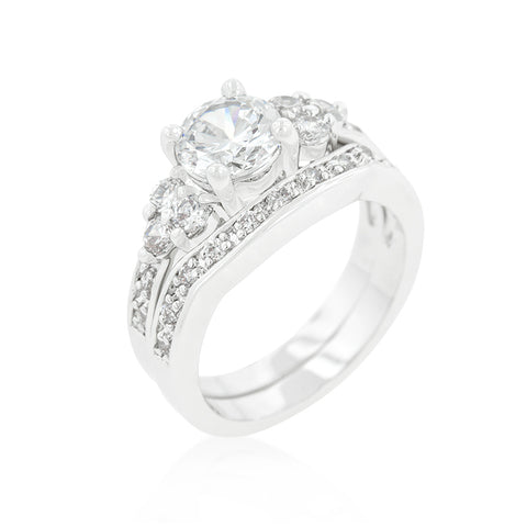 One Forever - Filigree Design Double Engagement Bridal Ring