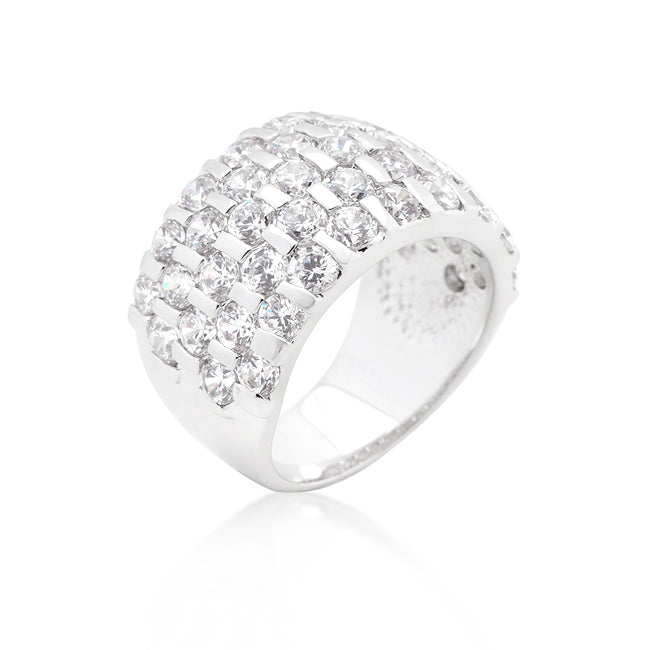 Princess Charm - White Gold Ring With Princess Cut CZ