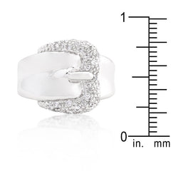 Simple CZ Belt Ring
