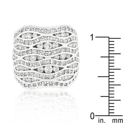 CZ Pave Abstract Ring