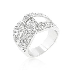 CZ Knot Ring