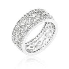 Antiquity - Filigree Ring With Accented Cubic Zirconia
