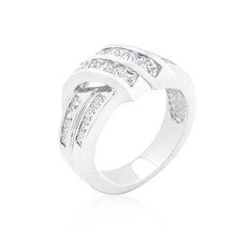 CZ Double Knot Ring
