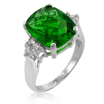 Apple Green Cocktail Ring