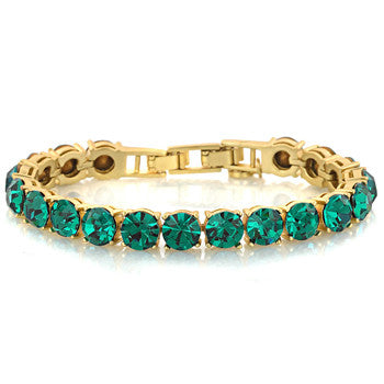 Emerald in Antique Gold