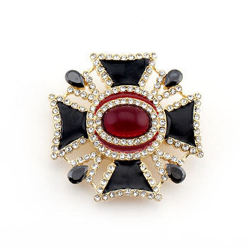Iron Cross Inspired Fashion Brooch