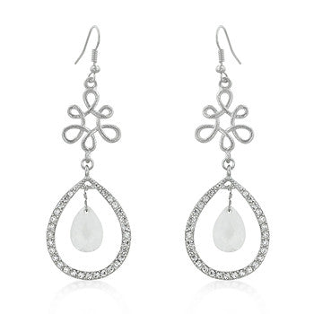 Winter Ice Cushion Cut CZ Dangling Earrings