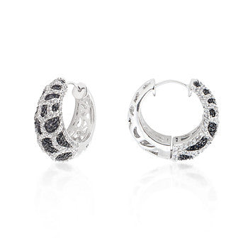 Spotted Cubic Zirconia Hooplet Earrings