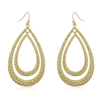Golden Droplets Gold Dangle Earrings