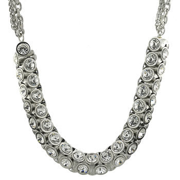 Crystal Four-Sided Necklace