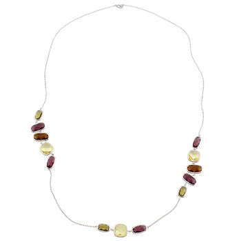 Assorted Color CZ Fashionista Necklace