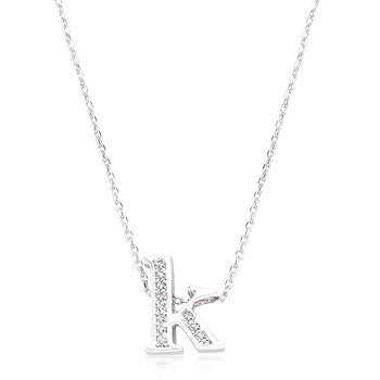 Pave Initial K Pendant