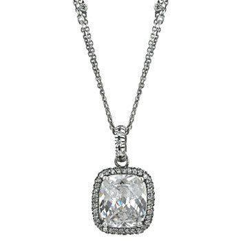 Antique Silver CZ Pendant