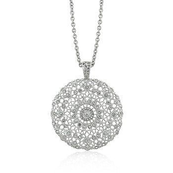 Elegance Open Latticework Crystal Necklace