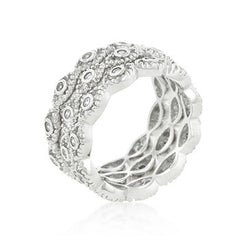 Silvery Gaze Triple Stack Eternity Bands