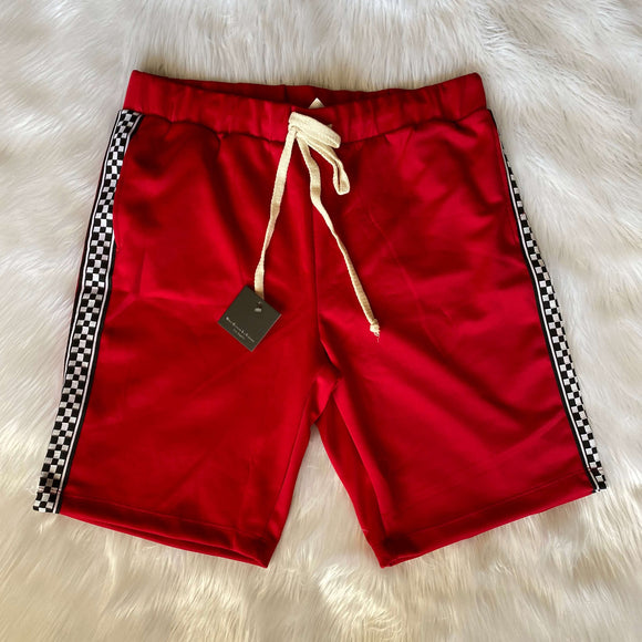 Checkered Short Red