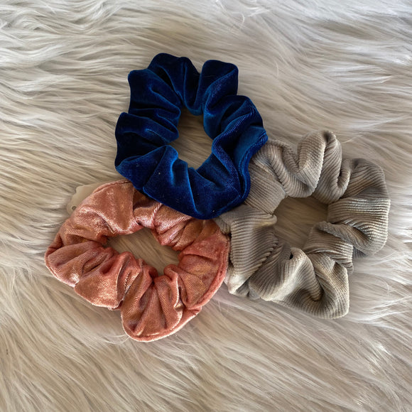 Set of 3 Scrunchies (Velvet Corduroy)