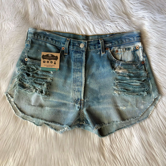 Upcycled Tie Dye Levis Shorts