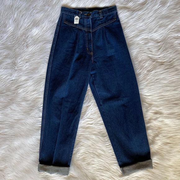 Vintage Mom Jeans Dark Wash