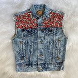 Up-cycled Virgin Mary Levis Vest