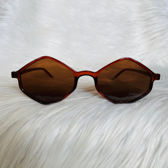 Brown Diamond Shape Sunglasses