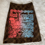 One of a Kind!! Dead Kennedys screenprinted Skirt