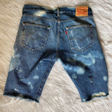 Up-cycled Distressed 501 Levis 33