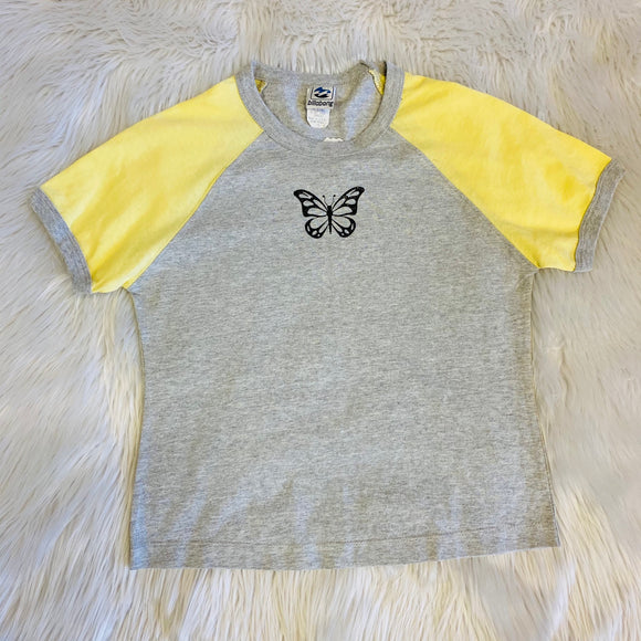 Yellow Butterfly 90s Baby Shirt