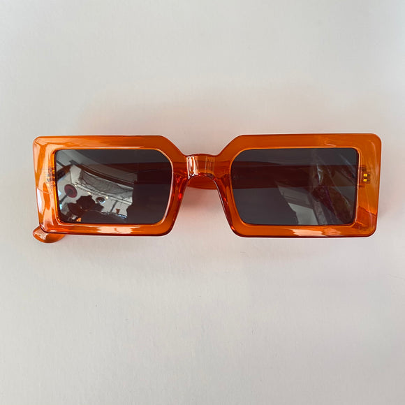 Orange Rectangular Sunglasses