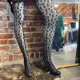 Leopard Print Opaque Tights
