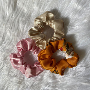 Set of 3 Satin Scrunchies