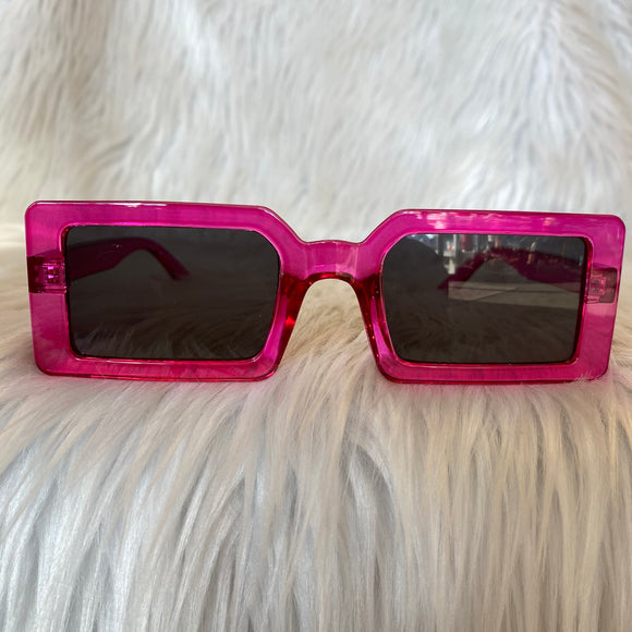 Fuchsia Rectangular Sunglasses