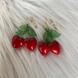 Cherry Heart Earrings