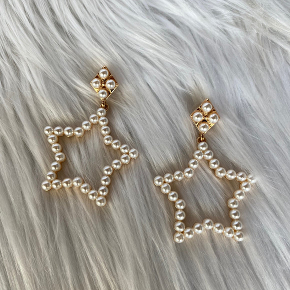 Star Pearl Earrings