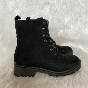 Womens Boots Black Suede