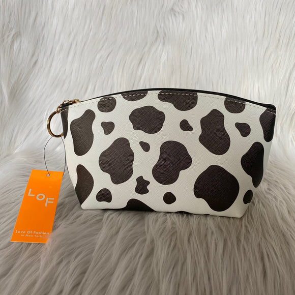 Cow Print Make up Bag