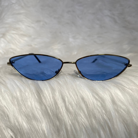 Blue Cat Eye Sunglasses