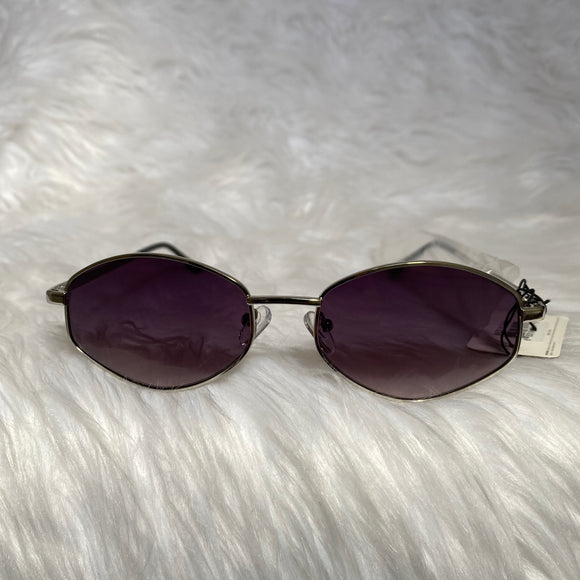 Onyx Retro Geometric Sunglasses