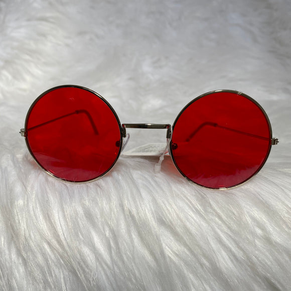 Red Circle Frame Sunglasses